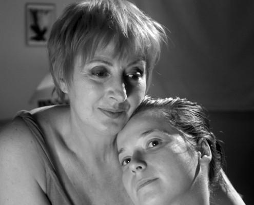 """רוזינה קמבוס ותמרה קליינגון. """"אלפא"""", 2007. צילום: אנה ים"""
